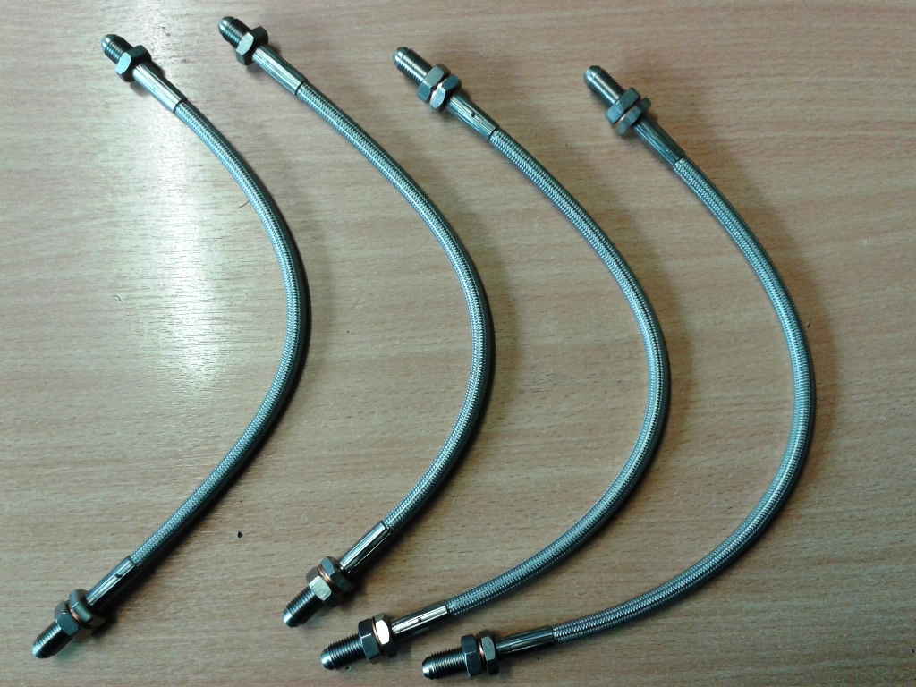 Stainless Braided Brake Hose : Stainless steel brake hose kits canley classics