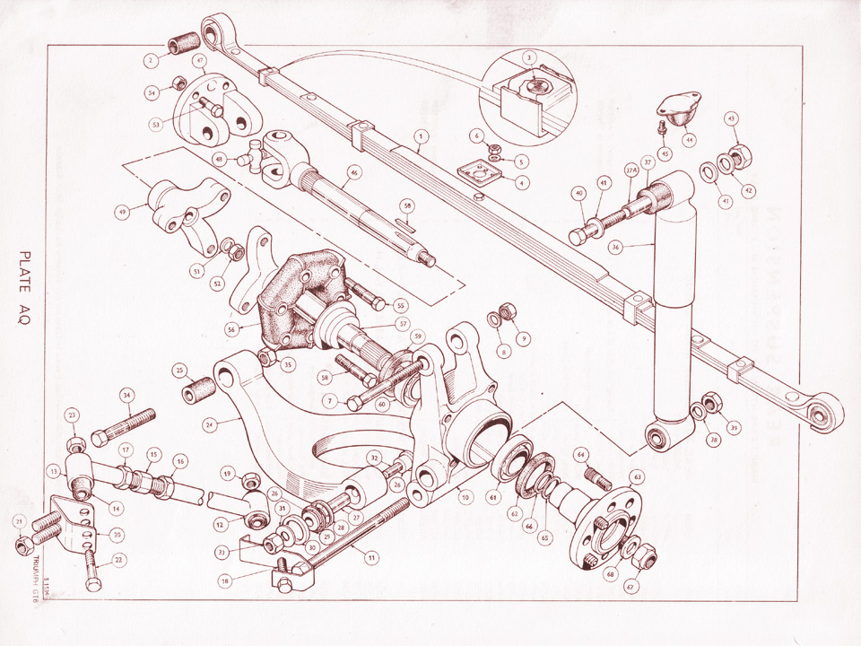 Triumph Vitesse //GT6 Rotoflex Spacer 148850 New