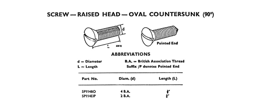 Screw - Raised Head