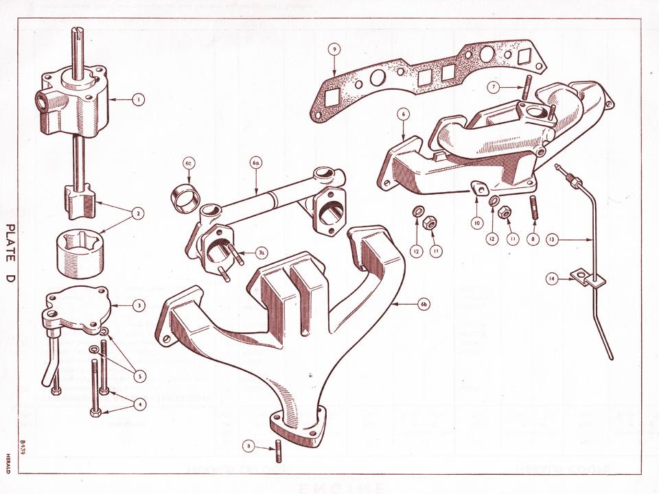 oil pump and manifold   canley classics V6 Engine Diagram V6 Engine Diagram