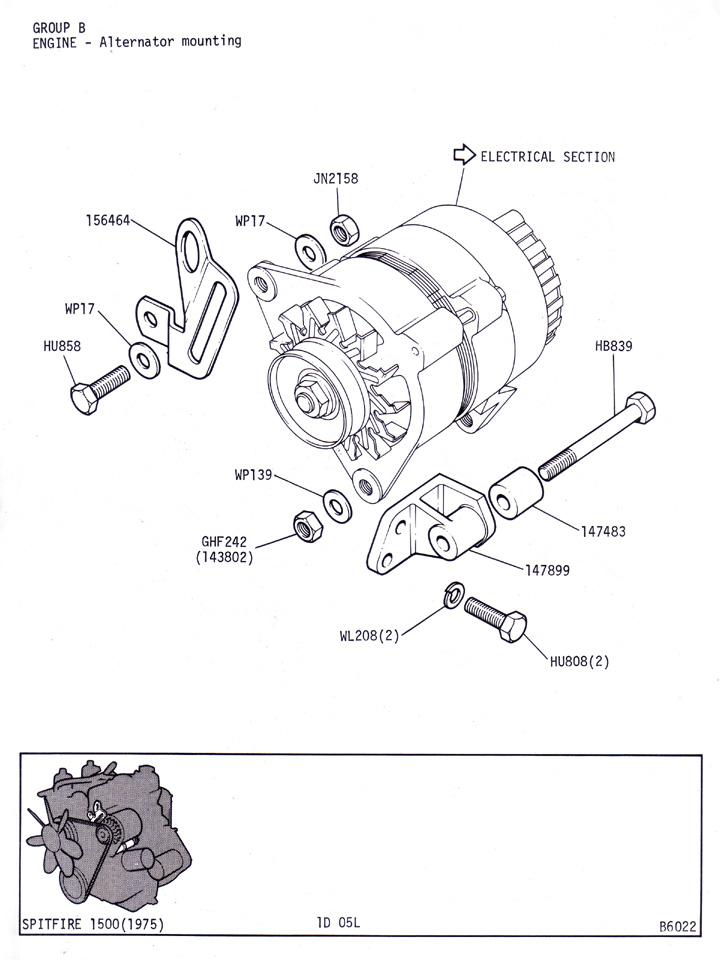 alternator mounting   canley classics