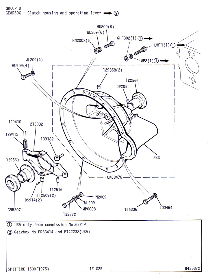 Clutch Housing And Operating Lever To Fr33413   Canley