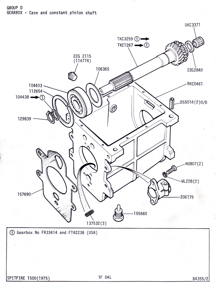 Case And Constant Pinion Shaft   Canley Classics