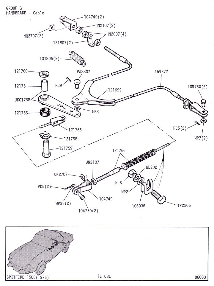 Handbrake Cable   Canley Classics