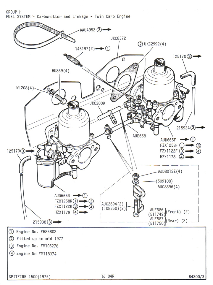 triumph tr6 engine diagram