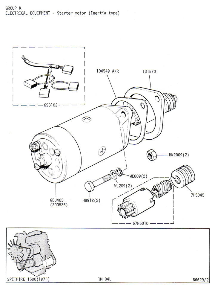 starter motor  inertia type    canley classics