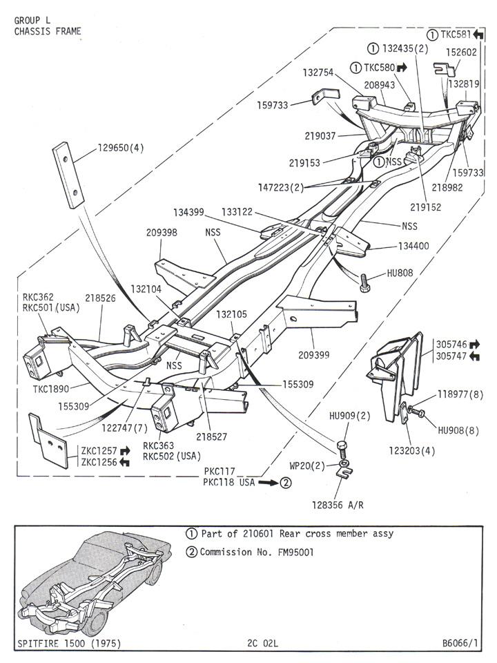 triumph spitfire parts list