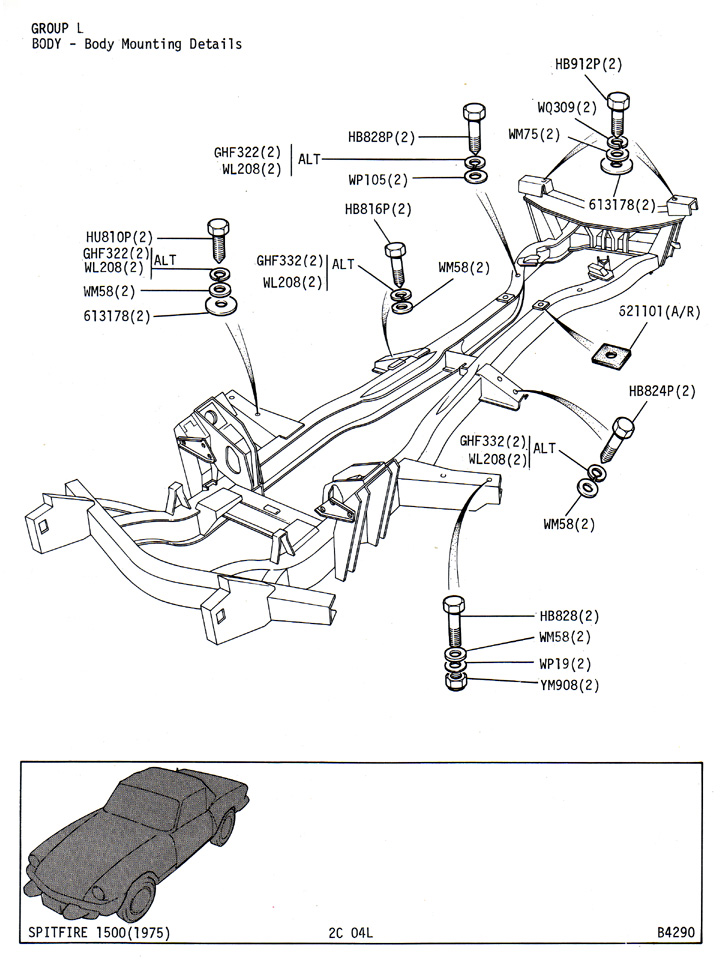body mounting details   canley classics