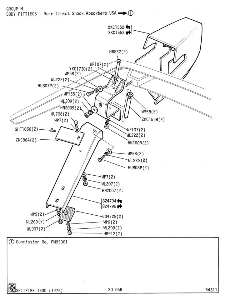 rear impact shock absorbers usa   canley classics