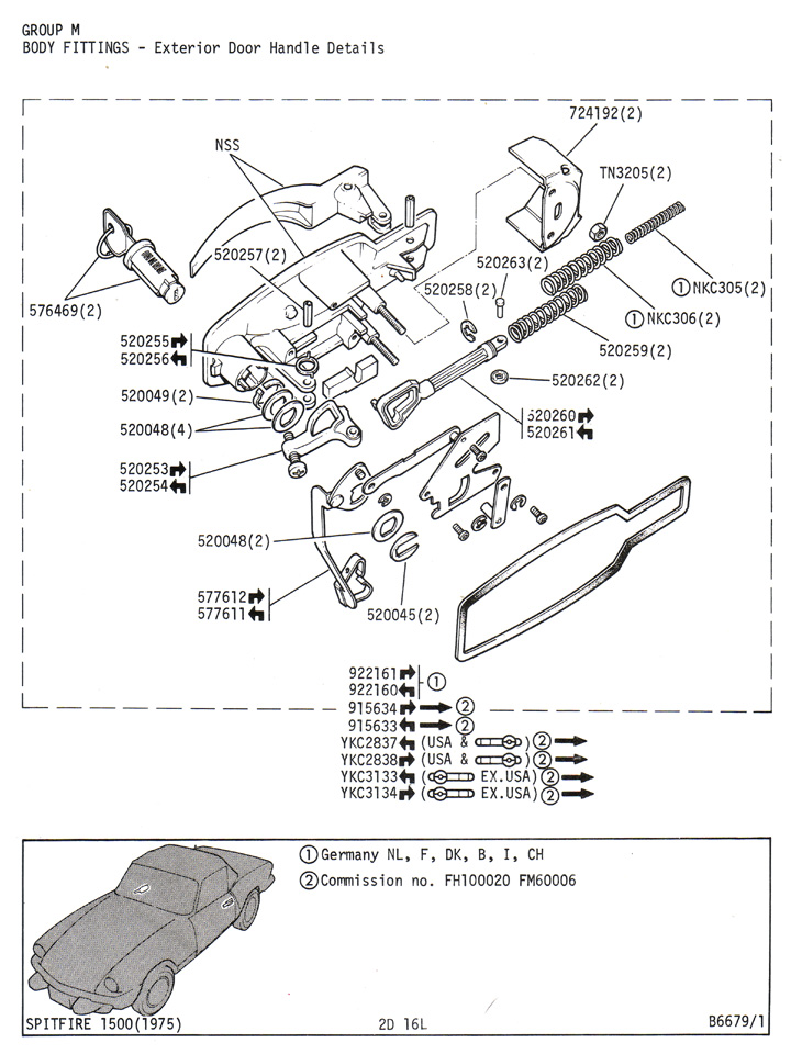 spitfire1500_plate_2d_16l broken interior door handle spitfire & gt6 forum triumph 1978 triumph spitfire wiring diagram at alyssarenee.co