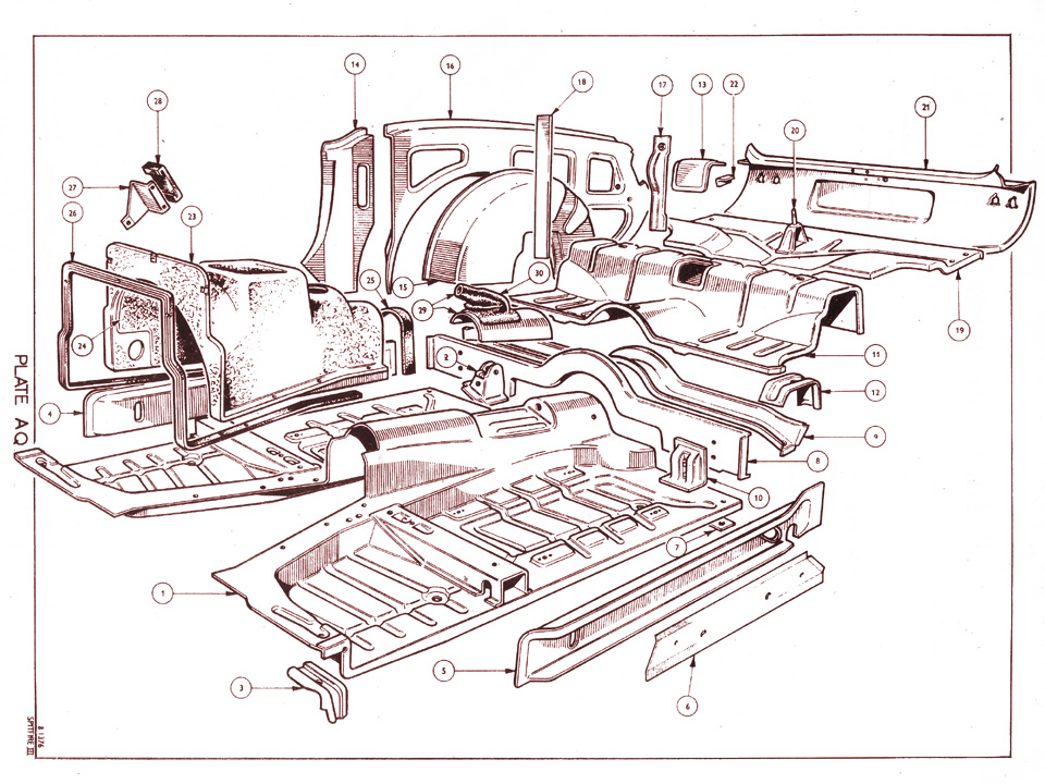 Triumph Spitfire Mkiii Floor Panel Details together with 1971 Mg Midget Wiring Diagram likewise ST1300 c as well 1 Lucas Distributors likewise Read. on triumph electrical diagram