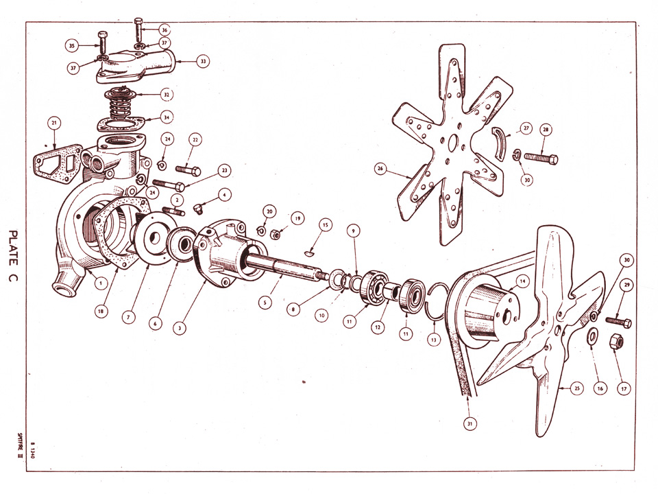 Water Pump Assembly   Canley Classics