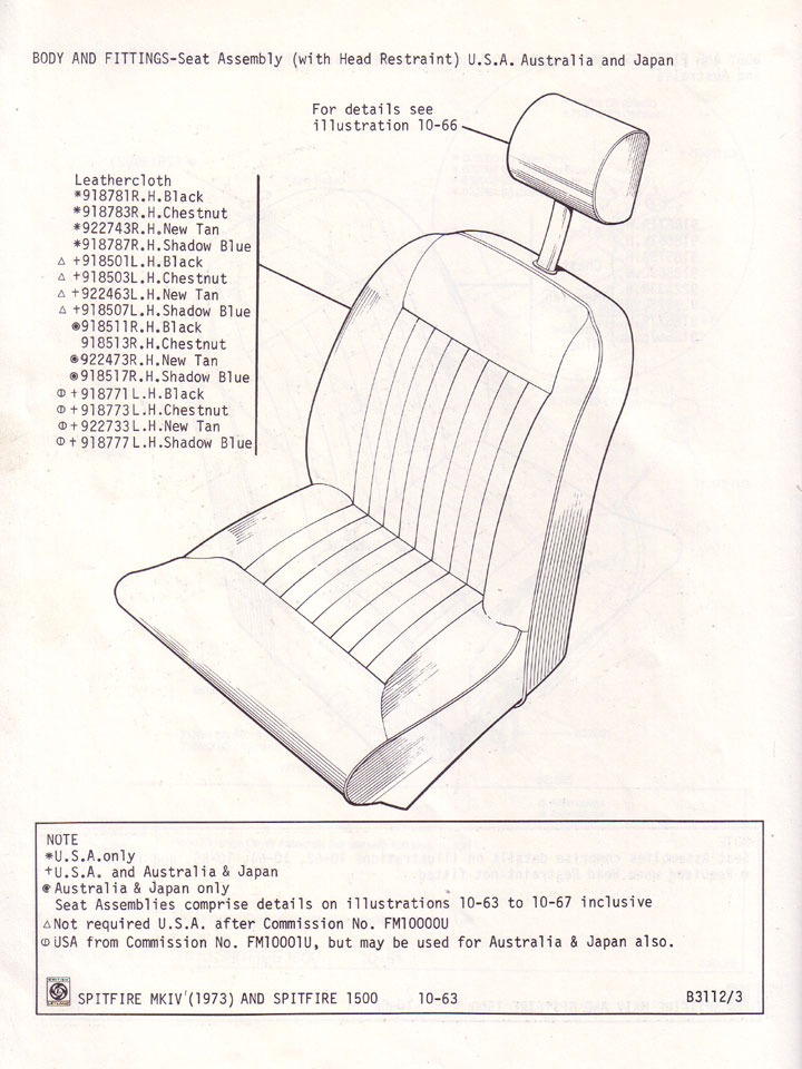 Seat Assembly  With Head Restraint