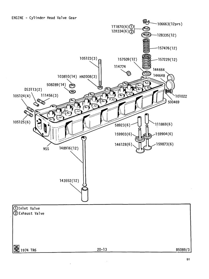 cylinder head valve gear @ canley classics cylinder head disassembly cylinder head diagram #18