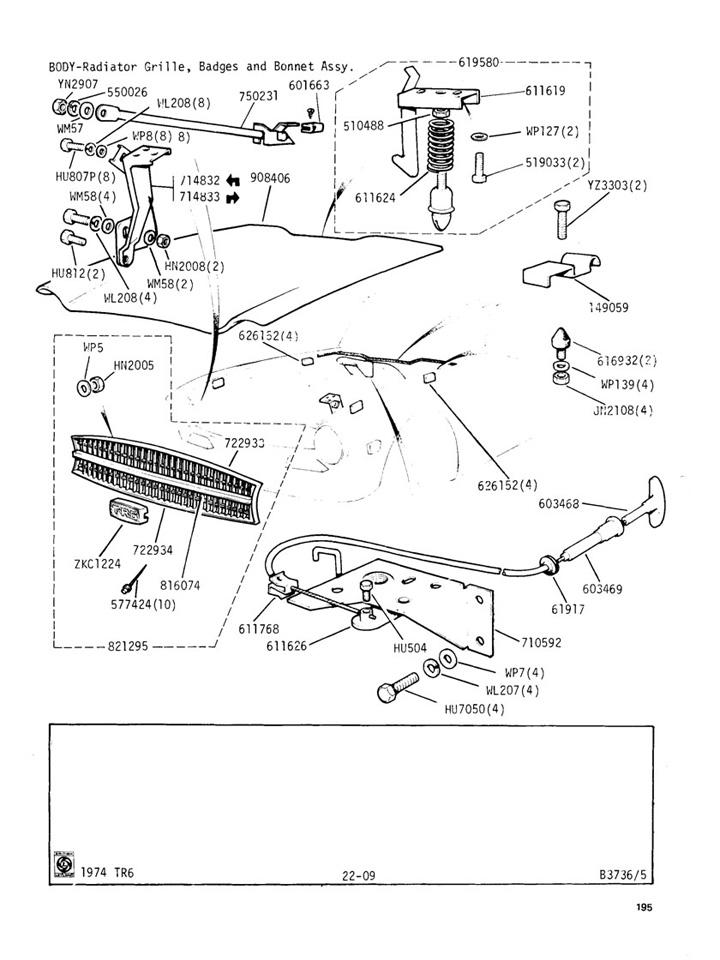 radiator grille badges and bonnet assembly canley classics. Black Bedroom Furniture Sets. Home Design Ideas