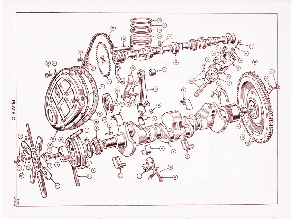 1600 Crankshaft And Camshaft   Canley Classics