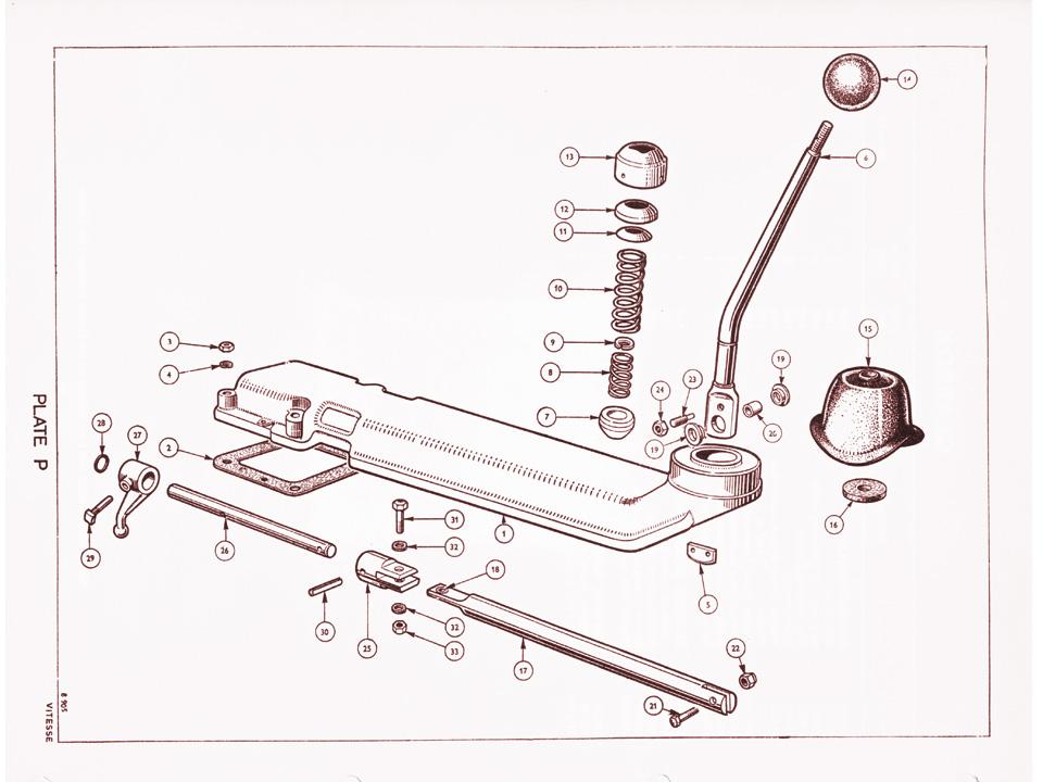 1600 Gear Shift Mechanism Canley Classics