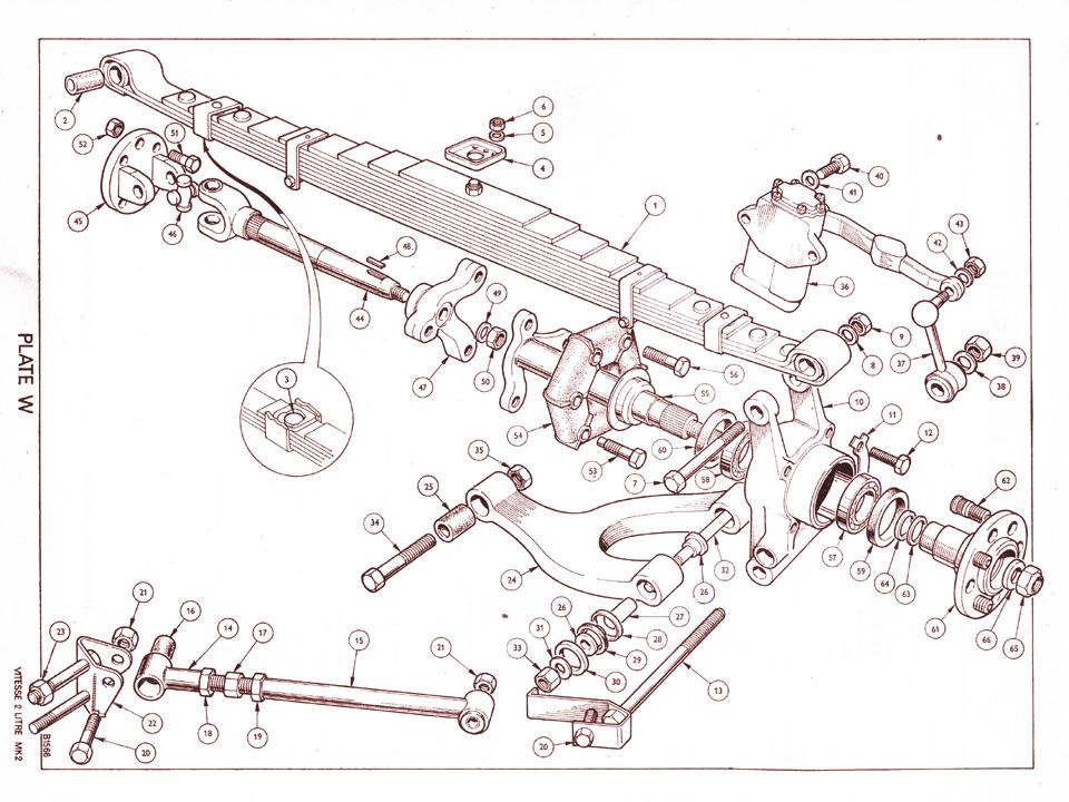 TRIUMPH VITESSE GT6 REAR R//H ROTOFLEX WISHBONE 149769